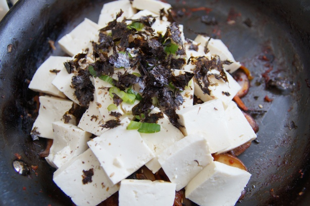 Tofu on top