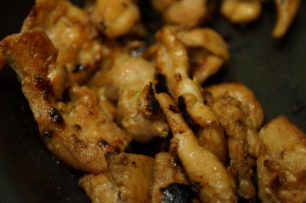Cooked chicken bulgogi