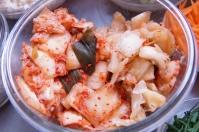 Unwashed/washed kimchi