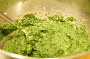 Spinach Maultaschen mixture
