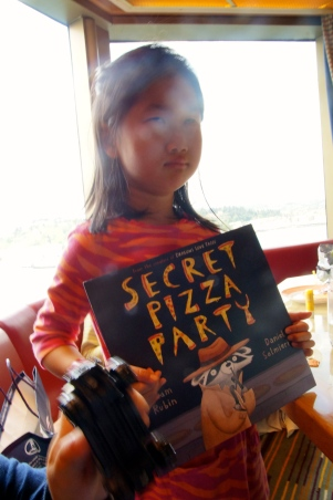 Stella loved Dragons Love Tacos, and now she loves Secret Pizza Party.