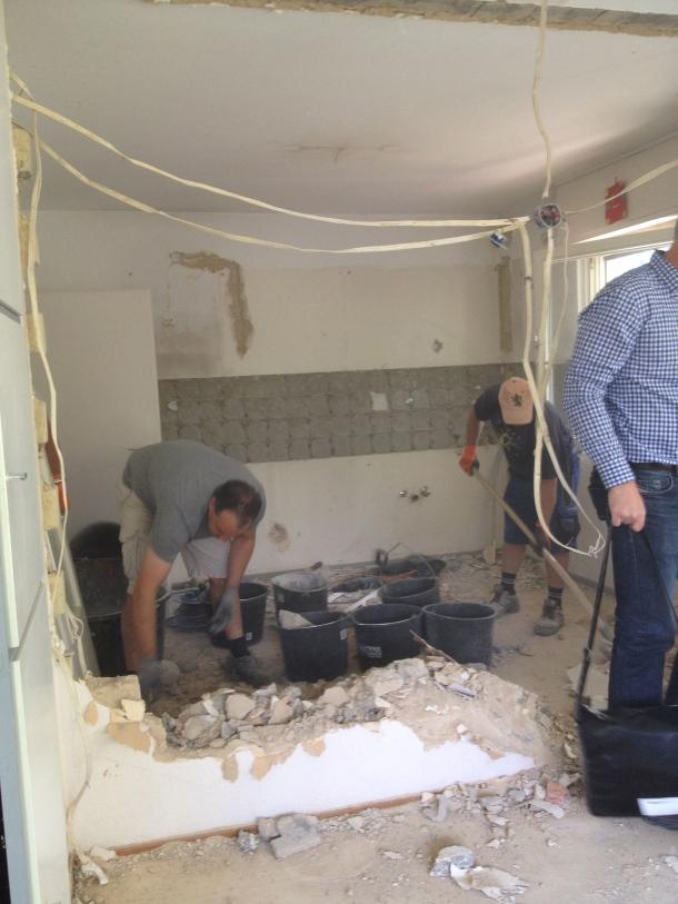 Demolition of kitchen