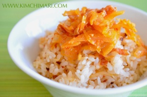 """Mock"" Kimchi Rice with Sauerkraut and Bacon"